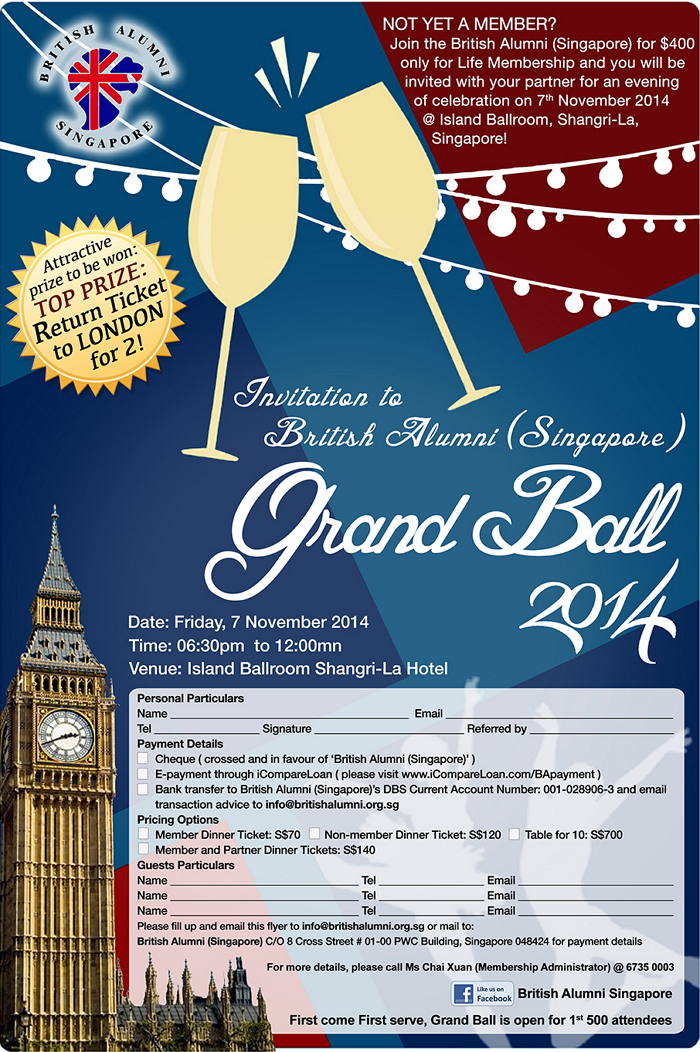 Invitation to British Alumni Grand Ball 2014